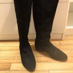 """Steven"" by Steve Madden black suede boots"